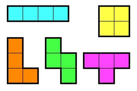 printable tetris shapes project four final 3d polyomino s small object design