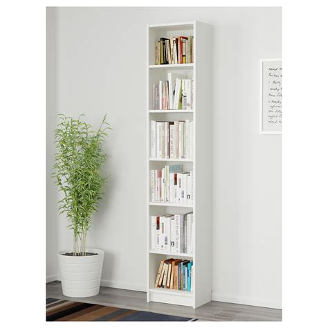 Narrow Billy Bookcase Billy Bookcase White 40x28x202 Cm Ikea