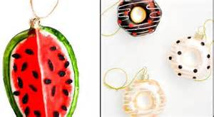 adorable food themed christmas tree ornaments
