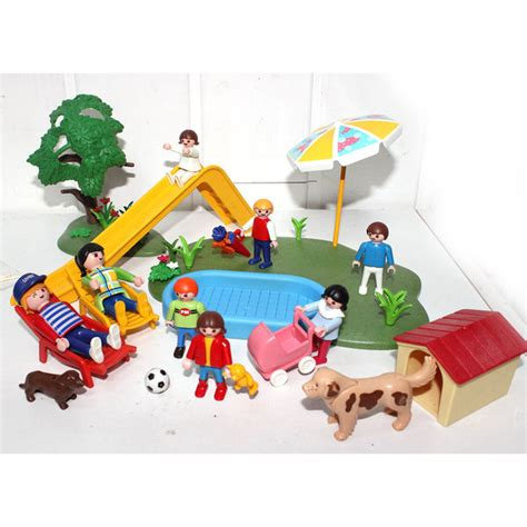 playmobil d enfant avec bassin play original