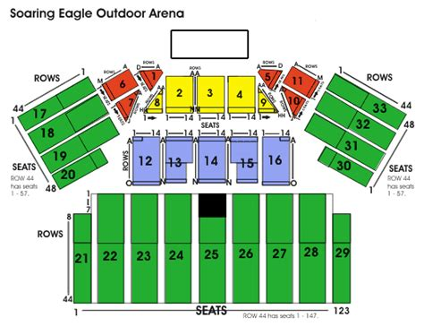 soaring eagle outdoor concert seating soaring eagle casino seating chart ticket solutions