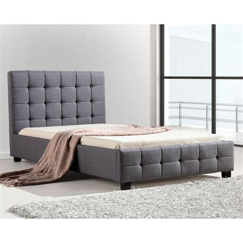 single bed linen deluxe king single linen fabric bed frame in grey buy