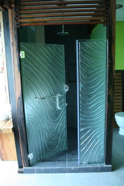 Textured Glass Shower Doors Shower Enclosure Textured Glass Wave Design Cavitetrail Glass Railings Philippines Tempered