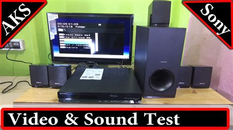 sony tz   dvd home theatre sound test  aks youtube