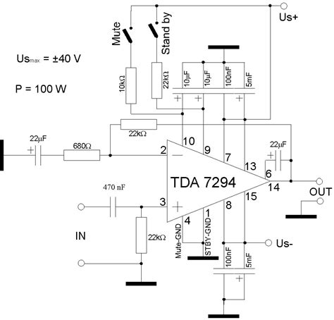 Power Lifier Kit Ic Tda tda7294 power lifier schematics tda7294 get free image