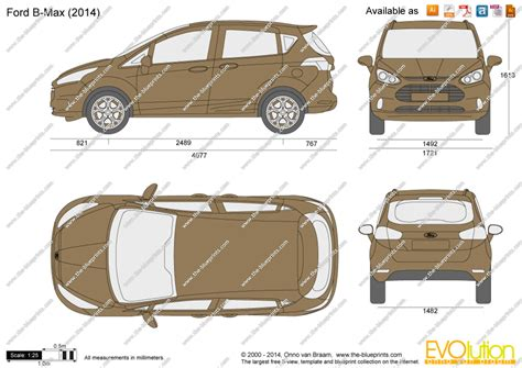 Ford C Max Interior Dimensions by The Blueprints Vector Drawing Ford B Max