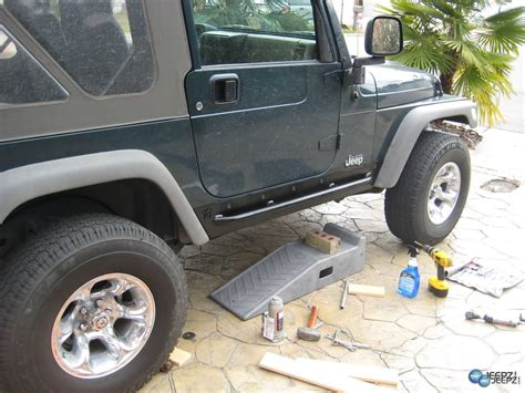 Rock Sliders Jeep How To Install Rock Sliders On A Jeep Wrangler