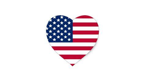 Rc Aufkleber Anbringen by Amerikanische Flagge Herz Aufkleber Zazzle