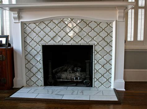 1000 ideas about tiled fireplace on