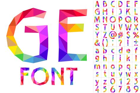 colorful font of patches objects on creative market