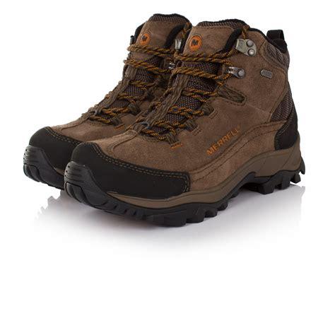 mens brown hiking boots merrell norsehund omega mid mens brown waterproof walking