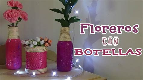 decoracion floreros de cristal floreros con botellas de vidrio recicladas bu