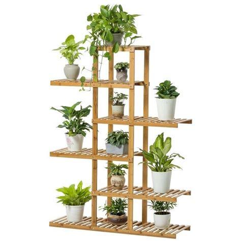 indoor plant shelves bamboo wooden plant stand indoor outdoor garden planter