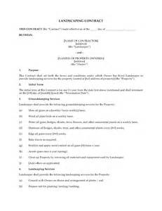 Landscaping Contract by Landscaping Contract Form Forms And Business Templates Megadox
