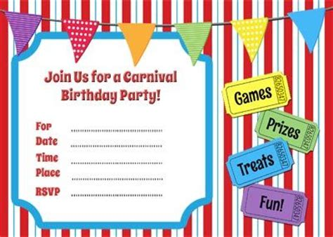 printable birthday invitations carnival theme free carnival invitation printable jpg summer games