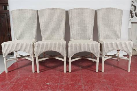 Lloyd Loom Dining Chairs Six Vintage Lloyd Loom Wicker Dining Chairs For Sale At 1stdibs