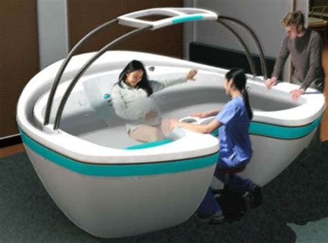 waterbirth vessel a lot more comfortable than a regular