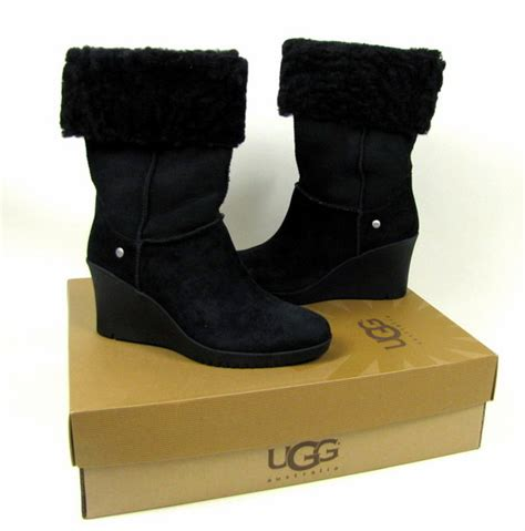 ugg boots wedge heel black ugg boots wedge heel