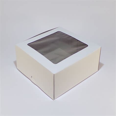 window cake boxes cake box window 6 x 6 x 3