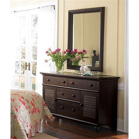 sauder harbor view dresser and mirror antiqued paint