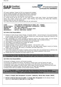 sle resume for sap sd consultant sap fico end user resume sle 28 images muhammad umair