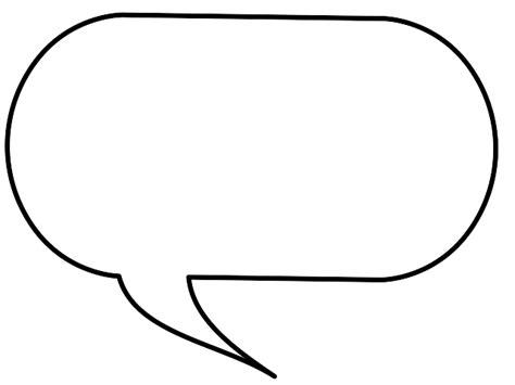 speech bubble template printable clipart best
