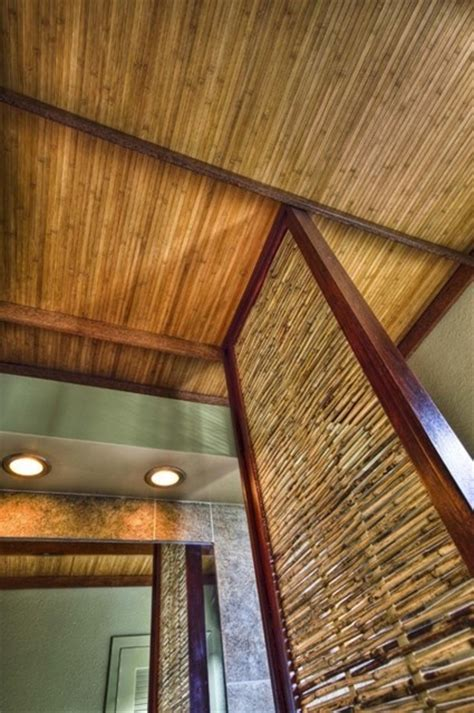 The Bamboo Ceiling by Bamboo Ceiling For Lanai Basement Ideas