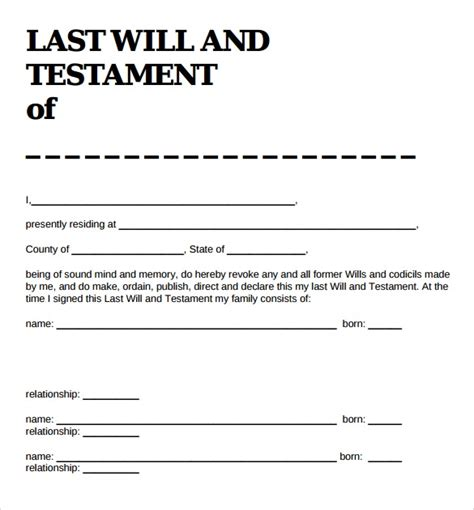 Last Will And Testament Template Blank Form Captures Marvelous Best 25 Ideas Wills Trusts Last Will And Testament Template Alabama