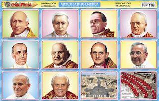 nombres de los papas de la iglesia catolica chikipedia y chikilines l 193 minas escolares n 186 118 papas