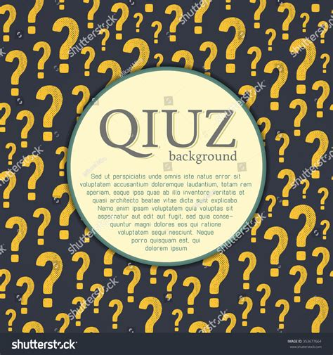 quiz night layout vector quiz background question answer concept stock