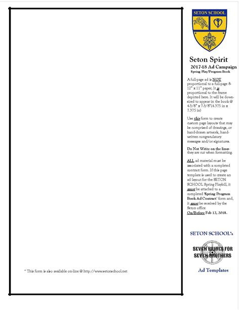 program ad template gse bookbinder co