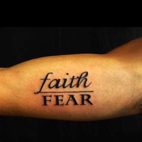 faith over fear tattoo faith fear words to live by