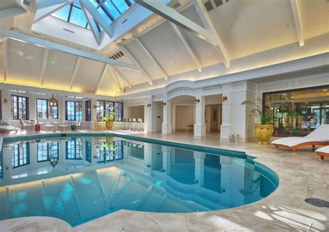 house with pool inside elegant private indoor glass mosaic swimming pool with atrium idesignarch interior design