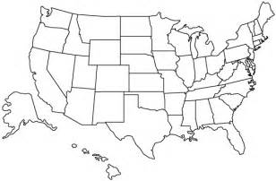Us States Blank Map by United States Outline Map