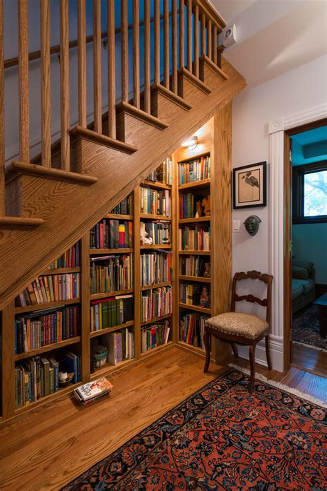 under stairs library design chic lightology convention chicago traditional staircase decorating ideas with built in