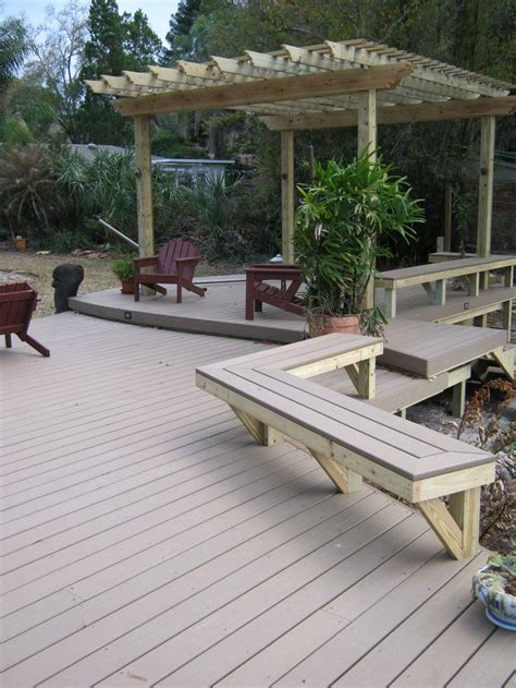 decks with benches built in built in composite deck benches wise women pinterest