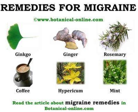 migraine remedies remedies
