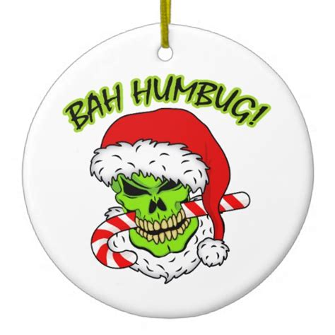 ba hum bug trees bah humbug skull ornament zazzle