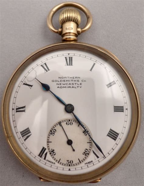 No Gold At Goldsmiths by 9ct Hm1922 Gold Open Faced Keyless Pocket Northern