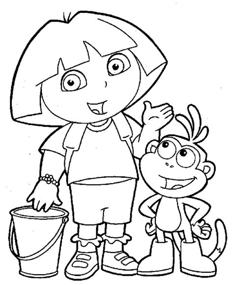 coloring page of dora printable dora color pages to print coloring home