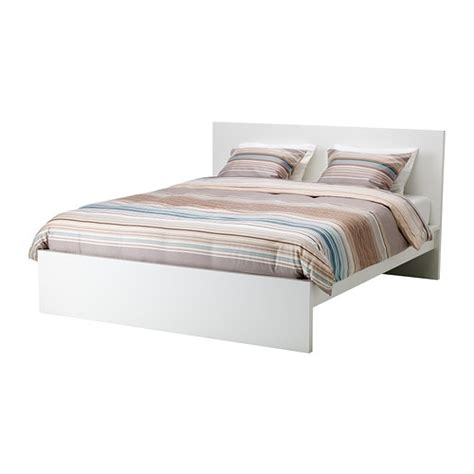 malm bed frame high queen white ikea