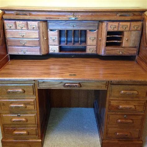 desk with lots of drawers find more oak roll top desk with key lots of storage