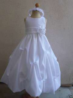 White Flower Dress Size M L 18677 white flower tutu christening baptism dress 5 6