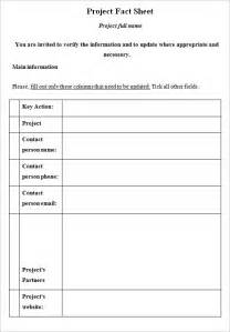 fact sheet template word fact sheet template 8 documents in pdf word