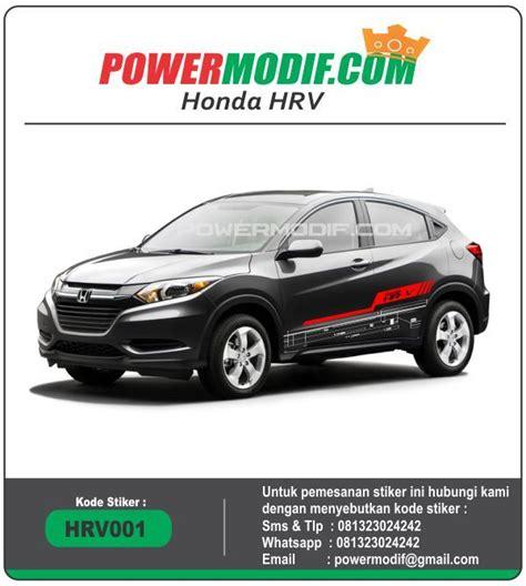 Sticker Honda Sticker Mobil Honda Brio Jazz Hrv Dll stiker mobil hrv hitam kode hrv001 powermodif