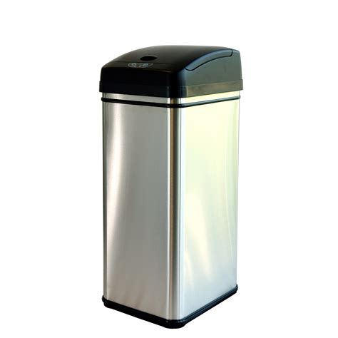 Dual Kitchen Trash Can by Itouchless Itouchless 16 Gallon Dual Compartment Automatic
