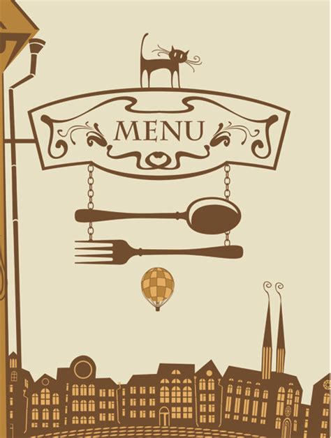 design menu cafe vector set of retro cover menu cafe and restaurant vector 01