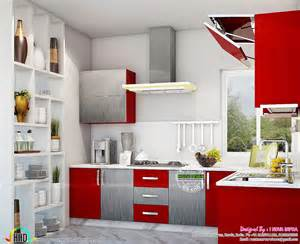 Interior Designs For Kitchens Kitchen Interior Works At Trivandrum Kerala Home Design
