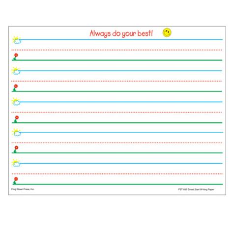 smart start writing paper smart start writing paper grades k 1