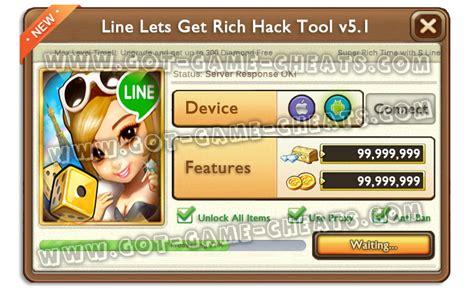 tutorial hack line get rich got game cheats com line lets get rich hack tool v5 1
